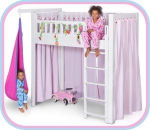 das Kinderbett LISTOflex, aufgebaut als Hochbett für Kinder ab 6 Jahren / SALTO - Möbel für Kinder / München