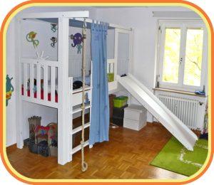 Kinderbett mit Rutsche / LISTOflex von SALTO Kindermöbel München