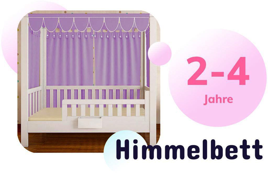 Kinderbett LISTOflex als Himmelbett für Mädchen / SALTO Möbel für Kinder / München