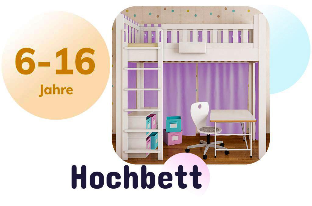 Kinderbett LISTOflex als Hochbett / SALTO Möbel für Kinder / München