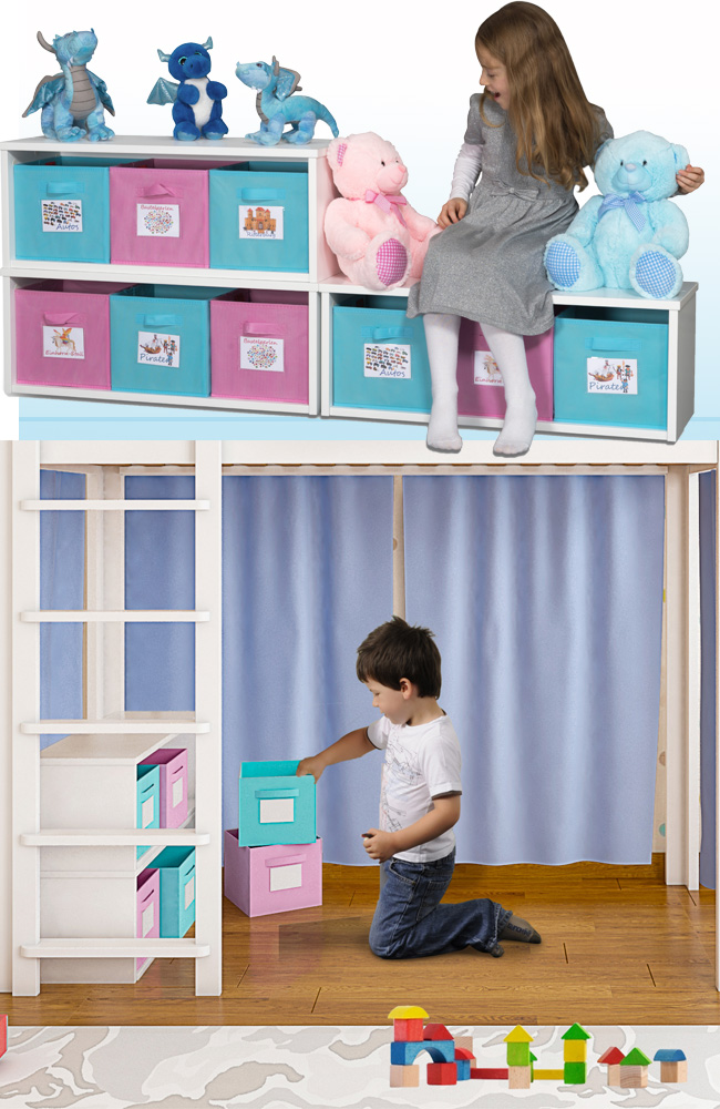 Regal KINTObox zum Kinderbett / SALTO Kinderbetten München