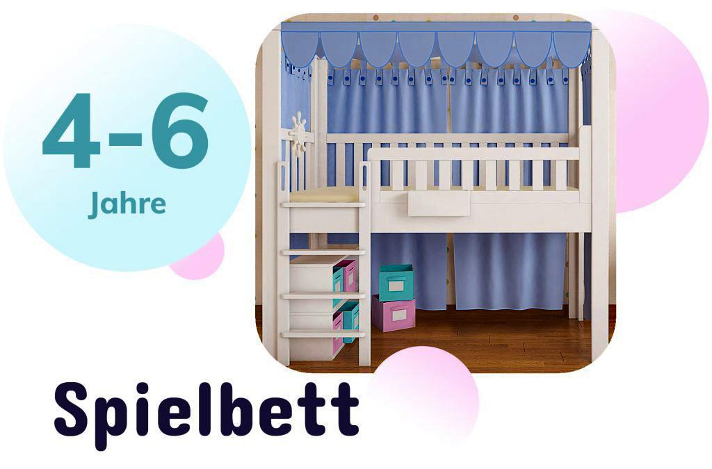 Kinderbett LISTOflex als halbhohesHochbett / SALTO Möbel für Kinder / München