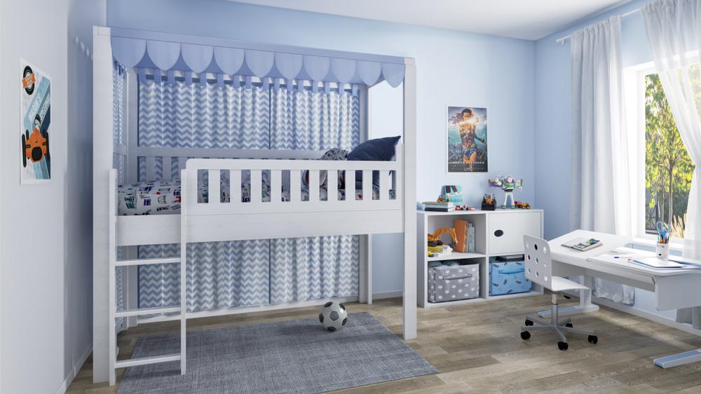 Kinderzimmer mit Kinderbett LISTOflex von SALTO Kindermöbel München